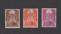 Luxembourg Sc# 329-331 Used stamp set 1957 United Europe Luxemburg