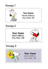 Snoopy Address Labels 30 Per Sheet 3 Designs To Choose From Peanuts