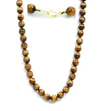 Individually knotted premium grade 12mm tiger eye bead necklace-20""