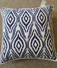 """Ikkat design navy Cushion Cover 20"""" x 20"""" 100% Cotton Decorative Pillow Case"""