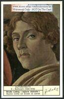 Italian Painter Botticelli Self Portrait c40 Y/O Trade Ad Card
