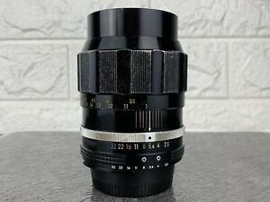 Nikon Nikkor-P Auto 105mm 1:2.5 MF Pre-AI Lens For Nikon F Mount *Heavily Used*