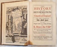 GILBERT BURNET THE HISTORY OF REFORMATION OF THE CHURCH OF ENGLAND RIFORMA 1715
