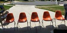 New listing Herman Miller Eames Orange Shell Chairs  3