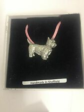 Westie PP-D03 Dog Pewter Pendant on a PINK CORD Necklace