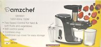 AMZCHEF Slow Masticating Juicer Extractor, Cold Press Juicer w Two Speed Modes