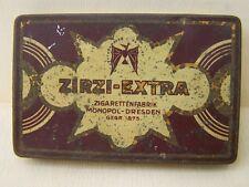 Alte Zigarettenschachtel Blechdose ZIRZI-EXTRA Zigarettenfabrik MONOPOL-DRESDEN