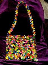 UNIQUE OOAK gum candy wrapper pocketbook handbag purse recycle funky UNIQUE