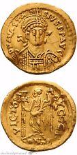 Byzantine Gold Solidus Coin Anastasius Constantinople 491-518 Ad