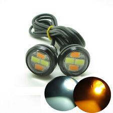 2 x Dual Colors White Amber DC12V Eagle Eye 5630 SMD LED  Car Light Black Case