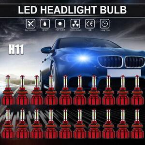 Wholesale 20PCS H11 H9 H8 4-SIDES LED Headlight Bulb Hi-Lo Beam 8000K Blue Light