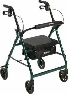 Drive Medical McKesson Rollator Folding Walker GREEN Adult 4 Wheels R726GR ~NEW~