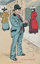 POSTCARD  COMIC  The Coster Proposal......            Crombie