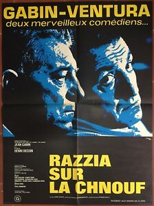 Poster Razzia Sur The Chnouf Henri Decoin Jean Gabin Lino Ventura