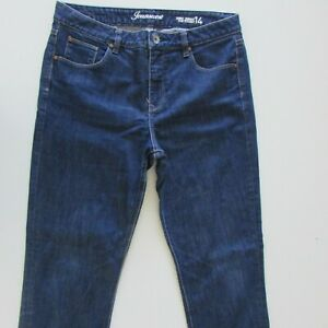 Just Jeans Womens Size 14 L30 Tummy Trimmer Slim Straight Fit Blue High Rise