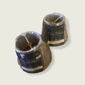 "Villa Bacci Mini Lamp Shade 3.x5""x4""-set of 2 brown free shipping USA"
