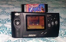 Sega Nomad Black Handheld Genesis MEGA Drive 4 GAME battery AV 3P AC ADAPTOR ●