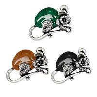 Fashion Cute Enamel Rhinestone Mouse Brooch Pin for Men Women Jewelry Gifts