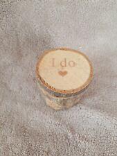 Pixnor Wooden Wedding Ring Bearer Box ,Shabby Chic Rustic Wedding Ring Box