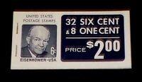 US #BK119 Complete Booklet CV$9.00 Eisenhower #1393a/Jefferson #1278a [Dull Gum]