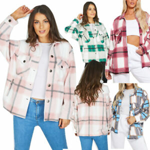 JYO Womens Checked  baggy fit Boxy Jacket