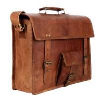 Bag Leather Messenger Shoulder Briefcase Men Laptop Satchel Vintage Genuine