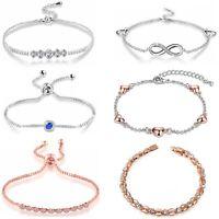 Elegant Armband Armkette Kristall Mädchen Frauen Armreif Mode Schmuck Geschenk