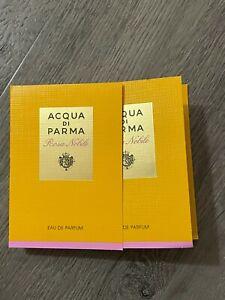 2 NEW ACQUA di PARMA Rosa Nobile Eau De Parfum Perfume EDP 0.05 oz. ea NIP