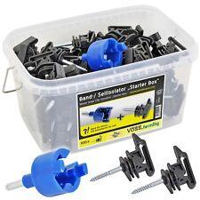 100x Isolatorbox Weidezaunband & Seilisolatoren Isolator Weidezaunisolator Band