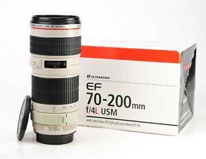 Canon EF 70-200mm F4 L USM Telephoto Zoom Lens + Front & Rear Lens Caps + Box
