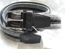 VAN LAACK Cinturón GALLO TALLA 110 MADE IN ITALY gris / Negro '' NUEVO