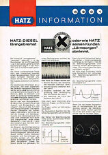 HATZ-DIESEL rumore frenato, ORIG. PROSPEKT 1972