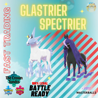 POKEMON SWORD & SHIELD SPECTRIER & GLASTRIER + MASTERBALL CROWN TUNDRA DLC
