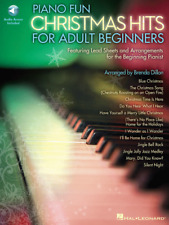 """Piano Fun """"Christmas Hits For Adult Beginners"""" Music Book/Audio Access Brand New"""