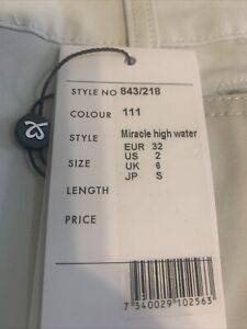 NWT Daily Sports ladies size 2 Miracle High Water golf pants new 111 light sand