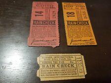 3 SUPER VINTAGE SCARCE 1931 TICKET STUB JACOB RUPPERT YANKEES NEWARK BEARS