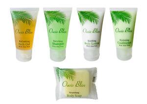 125 pc hotel toiletries set: Bath gel, Shampoo, Lotion, Conditioner, Soap(25 ea)