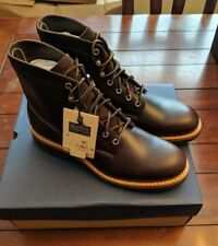 G.H. BASS Men's Reid Plain Round Toe Lace-Up Boot Brown Leather, NWB, US 11 M