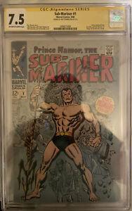 Sub-Mariner #1 SS CGC 7.5 🔥1968 HOT KEY MCU Black Panther 2 Movie Villain🔥RARE