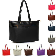 Ladies Shoulder Handbags Womens Laptop Bags Faux Leather Tote Extra Large Office