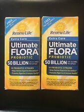 Renew Life Ultimate Flora 50 Billion Extra Care 60 Capsule Exp 01/2018 30