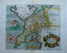 Antique Map of Caernarfonshire by Christopher Saxton and William Hole 1610