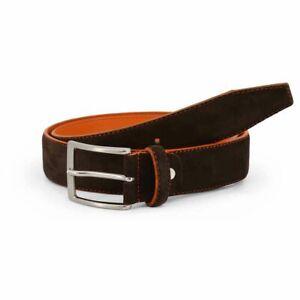 Sparco Derby Brown Belt in Suede