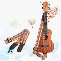 UK_ NE_ Adjustable Ukulele Strap For Ukulele Guitar Mandolin Instrument Hook Flo