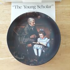 The Young Scholar Norman Rockwell collectors plate Heritage Collection series