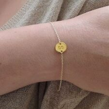 14k Yellow Gold Filled Monogram Initial Bracelet Personalize Jewelry