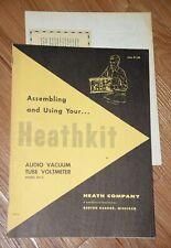 Heathkit Audio Vacuum Tube Voltmeter Model Av 3 Construction Manual