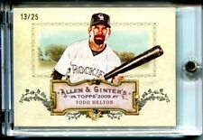 2009 Topps Allen & Ginter UNRIPPED Rip Card Todd Helton #RC21  13/25