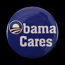 "2012 Barack Obama Cares 2 1/8"" Presidential Campaign Pinback Button"