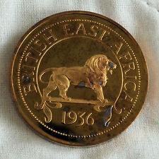 EDWARD VIII BRITISH EAST AFRICA 1936 BRONZE PROOF PATTERN CROWN - PLAIN EDGE